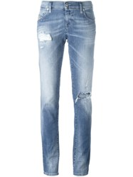 Diesel Distressed Slim Jeans Blue