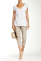 Tommy Bahama Seaside Vine Crop Pant Beige