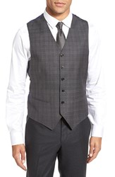 Ted Baker Men's London 'Jones' Trim Fit Plaid Wool Vest