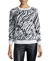 Haute Hippie Wise Avoid The Wicked Pullover Anti Ivoire Blk