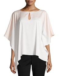 Catherine Catherine Malandrino Everly Colorblock Keyhole Blouse Dawn Ivory