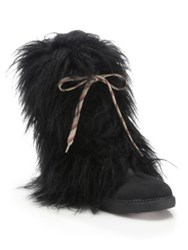 See By Chloe Katy Faux Fur And Leather Boots Black
