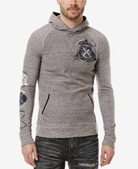 Buffalo David Bitton Men's Graphic Print Hoodie Heather Charlie