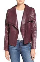 Bb Dakota Women's Newell Washed Leather Jacket Boysenberry