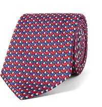 Turnbull And Asser Silk Jacquard Tie Red
