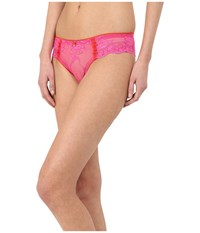 Emporio Armani Sexy Fancy Pop Lace Brazilian Brief Raspberry Women's Underwear Pink