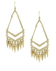 Bcbgeneration Goldtone Chandelier Earrings With Spike Accents