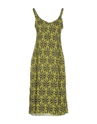 Kristina Ti Dresses 3 4 Length Dresses Women Acid Green