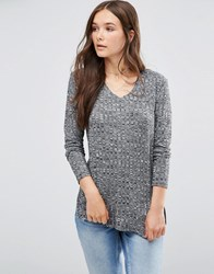 B.Young Longline Jumper Dark Grey Melange