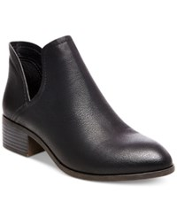 Madden Girl Zavier Chop Out Ankle Booties Women's Shoes Black