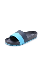 Hunter Contrast Mustache Slide Sandals
