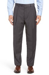 Linea Naturale Men's Pleated Microfiber Dress Pants Light Grey