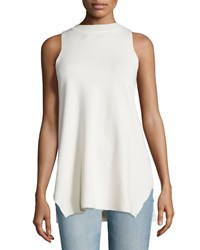The Row Elpas Sleeveless Jewel Neck Top Old Lace Women's
