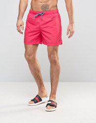 Tommy Hilfiger Solid Swim Shorts In Red Red