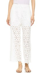 Zimmermann Roza Broderie Pants White