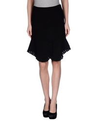 Uniqueness Knee Length Skirts Black