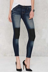 Nasty Gal Cult Of Individuality Moto The Line Mid Rise Jeans