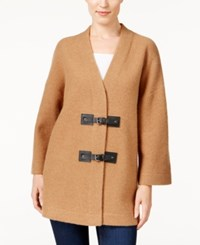 Jm Collection Wool Buckle Front Cardigan Only At Macy's Willow Brown