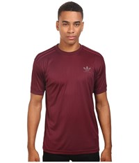 Adidas Clima Club Jersey Maroon Men's T Shirt Red