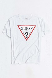 Guess Oversized Logo Tee White