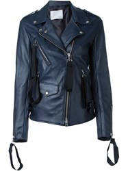 Matthew Miller Multi Zipper Pocket Jacket Blue