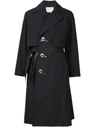 Toga Pulla Trench Coat Blue
