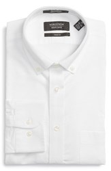 Nordstrom Men's Big And Tall Men's Shop Trim Fit Solid Dress Shirt White