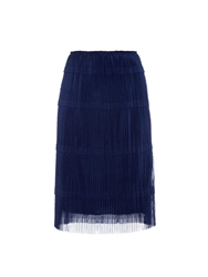 Burberry Pleated Tulle A Line Skirt