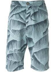 Vivienne Westwood Anglomania Graphic Print Shorts Blue