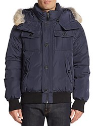 Mackage Coyote Fur Trimmed Down Jacket Ink
