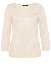 Hallhuber Lurex Jumper Made Of Textured Knit Grey