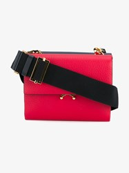 Marni Mini Cross Body Leather Bag Red Black