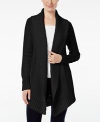 Styleandco. Style Co. Shawl Collar Open Front Cardigan Only At Macy's Deep Black