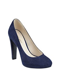 Nine West Brielyn Suede Pumps Navy Blue