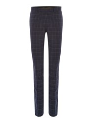 Label Lab Benet Check Skinny Fit Suit Trouser Grey