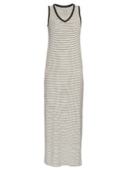 Atm Anthony Thomas Melillo Striped V Neck Jersey Dress Black White