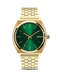 Nixon The Time Teller Sunray Dial Watch 37Mm Green Sunray
