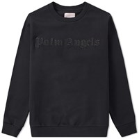 Palm Angels Embroidered Logo Crew Sweat Black
