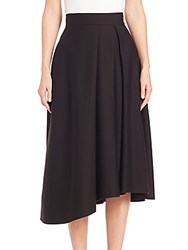 Nicholas N Ponte Side Pleat Ball Skirt Black