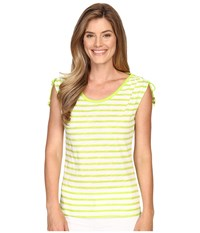 Michael Michael Kors Pindo Stretch Ruched Top Fresh Lime Women's Clothing Green
