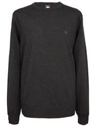 Pretty Green Mosley Crew Neck Sweater Charcoal