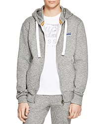 Superdry Orange Label Zip Up Hoodie Phoenix Grey Grit