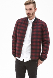 Forever 21 Plaid Bomber Jacket