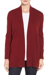 Nordstrom Women's Collection Open Front Cashmere Cardigan Red Sun