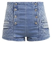 Pierre Balmain Denim Shorts Light Blue