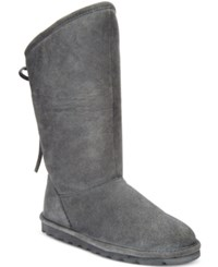 Bearpaw Women's Phylly Lace Up Cold Weather Boots Women's Shoes Charcoal