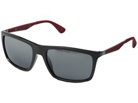 Ray Ban Rb4228 58Mm Red Rubber Grey Mirror Silver Gradient Fashion Sunglasses Black