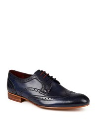 Ted Baker Leather Wingtip Toe Shoes Blue
