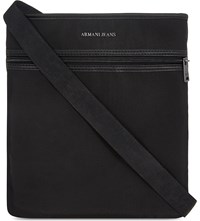 Armani Jeans Nylon Messenger Bag Black