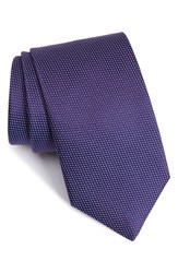 Eton Men's Microdot Silk Tie Purple